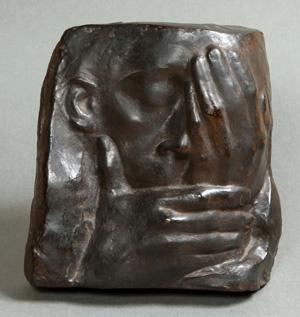 ケーテ・コルヴィッツ 《哀悼 エルンスト・バルラッハを偲んで》 1938-40年 富山県立近代美術館蔵