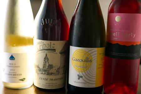 ワインはナチュラルな造りのものがメイン。銘柄はその都度変わる。