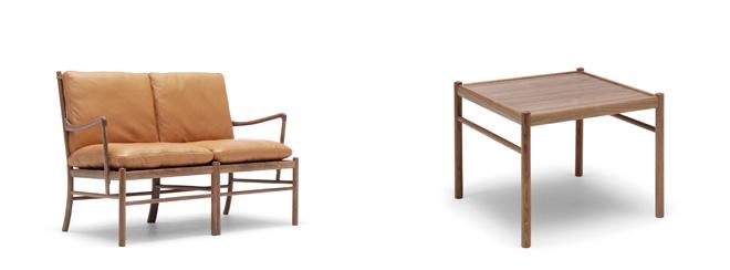 オーレ・ヴァンシャーの名作コロニアルチェアに、新たにコロニアルソファとコーヒーテーブルが加わりシリーズ化された。