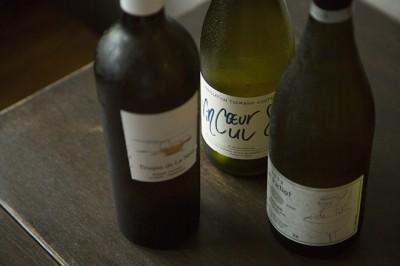 ナチュラルな造りのワインは、料理と相性がいい白が豊富に揃う。