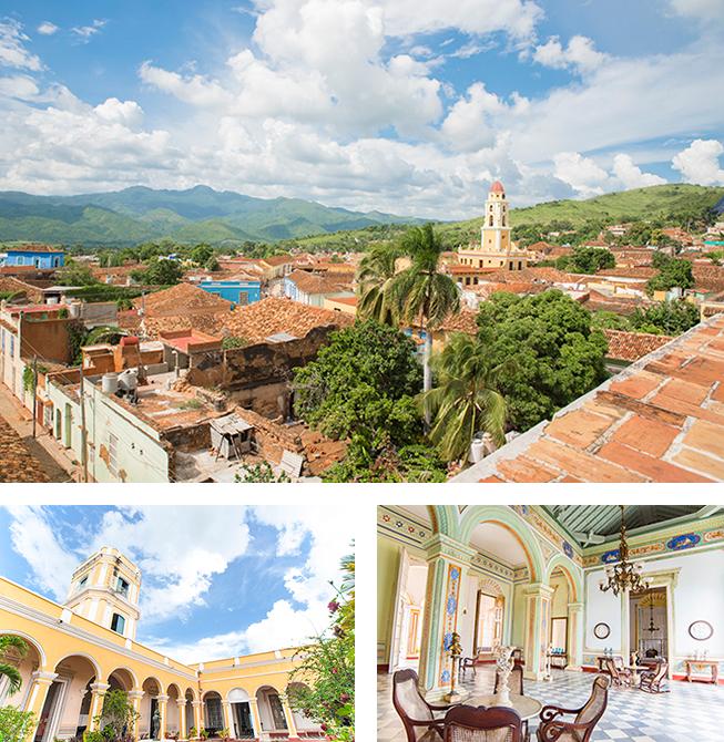 植民地時代、大富豪の邸宅だった市立歴史博物館からは、トリニダーの町を一望できます。