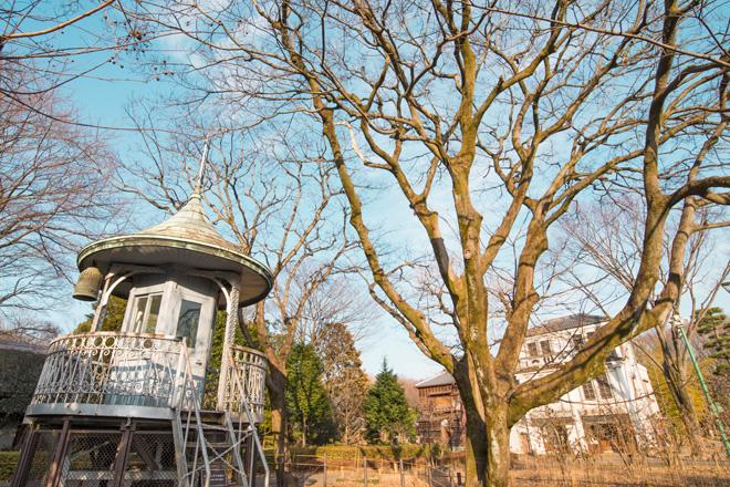 上野消防署(旧下谷消防署)の望楼上部。1970年まで使用されていました(台東区上野・1925年)。
