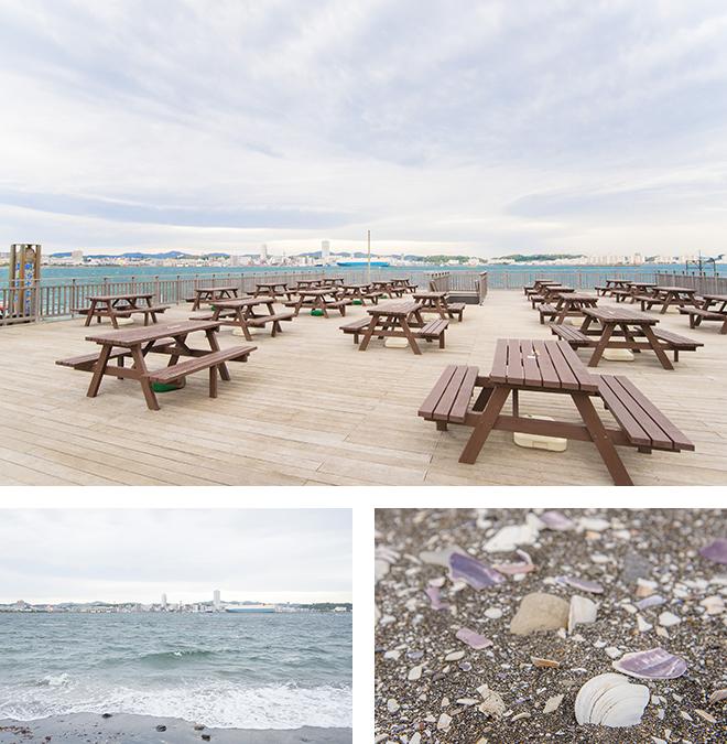 海を見ながらバーベキュー。夏は海水浴ができる砂浜もある自然豊かな島です。