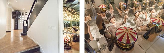 階段下の元トイレに展示されている、森村泰昌氏の『輪舞』。