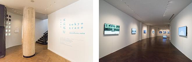 現在開催中の企画展は、佐藤雅晴氏の『東京尾行』。東京の日常の風景を切り取った映像にアニメーションを重ねた作品です。