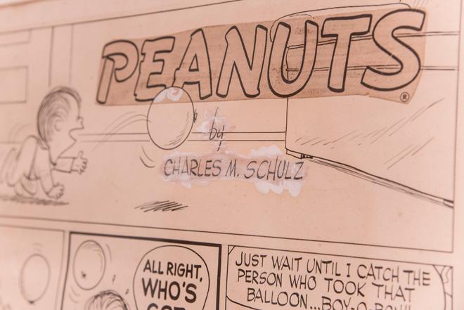 シュルツ氏の奥様、ジーンさんが選んだ貴重なピーナッツの原画。