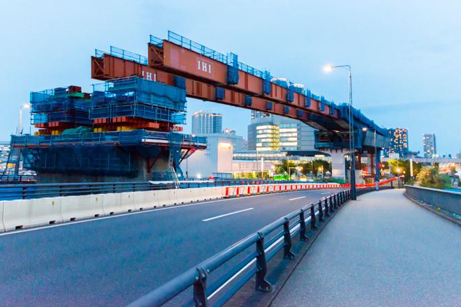 有明通りの上には、首都高速10号晴海線が開通予定。