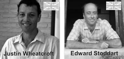 森の賢者といわれるほど木材知識のあるジャスティン・ウィートクロフト(右)と、家具フィニシングの錬金術師のエドワード・ストッダート(左)。二人のイギリス人デザイナーがコラボレートした。