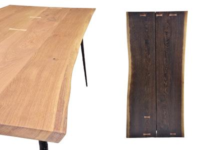 贅沢に大きな幅材を使用し、自然なカーブライン、木目やカラーをデザインとして表現。