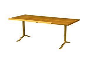 SIVA DINING TABLE 2BOARD サイズ:W2000×D850×H720 mm 素材:SMOKED OAK BASS LEG 価格:28万円(税抜)