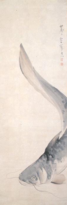 長沢蘆雪「鯰図」  江戸時代 岡田美術館蔵