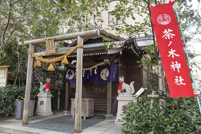 茶ノ木神社は、布袋尊(福徳円満・防災)が祀られています。