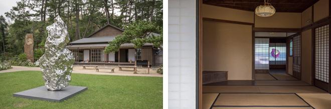 (左)「Artificial Rock No.109」ジャン・ワン。(右)「浮かぶ」片口直樹×横田将士。