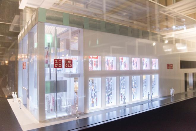 Wonderwallデザインのユニクロ・ニューヨークの30分の1サイズの模型。