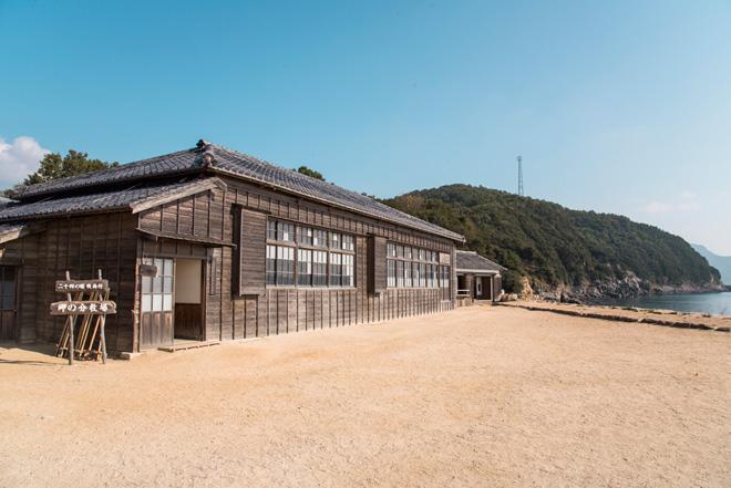 二十四の瞳映画村の苗羽小学校田浦分校。