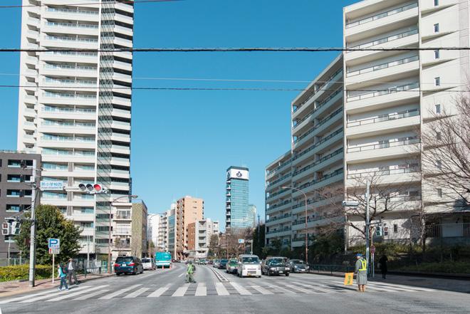 セレブな街、広尾から西麻布、青山方面を結ぶ外苑西通り。