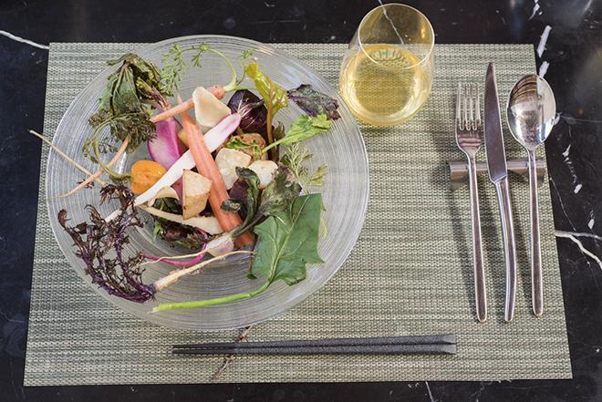 「富士の麓 北山農園の野菜のサラダ」は、野菜のそのものの味を堪能できる逸品。
