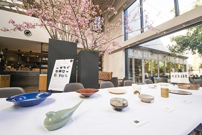 展示・販売された有田・伊万里・唐津の窯元・作家による和食器。