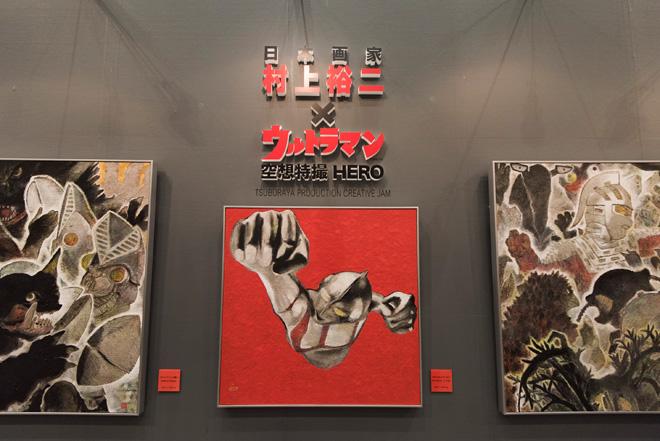 アートフェア東京初出展の老舗日本画商「靖雅堂 夏目美術店」。日本が世界に誇る特撮ヒーロー「ウルトラマン」を題材に、日本画家の村上裕二氏が筆を執った人気シリーズの新作に注目が集まる。