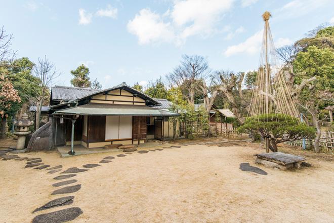 戦時中、東条内閣打倒の密議が行われた茶室・聴雨庵。