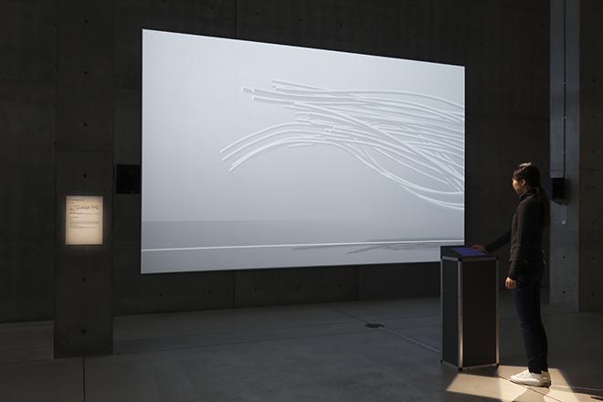 「アスリートダイナミズム」Takram  6競技のアスリートによる「動き」をモーションキャプチャーデータから抽出して可視化。