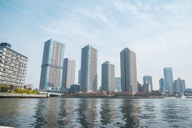 月島のタワーマンション群は東京の未来を感じさせます。