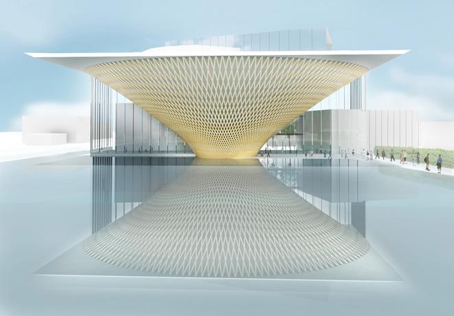 富士山世界遺産センター(日本、静岡県富士宮市/進行中)設計:坂茂建築設計 (C)坂茂建築設計