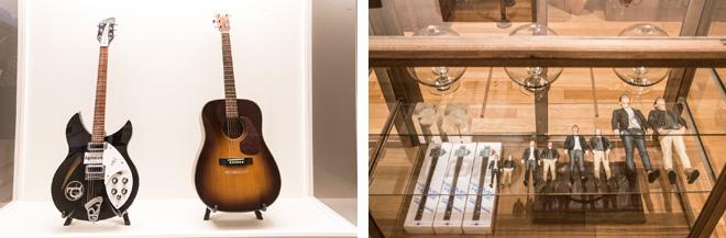 (左)「サカナクション」の山口一郎の作品を鑑賞するために設計された「Room 12」では、片山が山口から譲り受けたギターも展示。 (右)「Room13 骨董、オブジェ、その他」のエリアは、まるでショップのように作品がディスプレイされている。