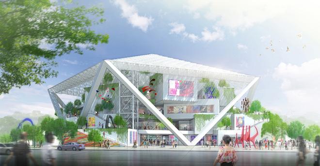 台南市美術館(台湾、台南/進行中)設計:坂茂建築設計 (C)坂茂建築設計