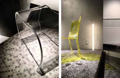 アクリルがもつ透明感や素材感を活かした、シンプルかつオブジェのようなデザインが特徴。 Photo_Nacása & Partners Inc. FUTA Moriishi