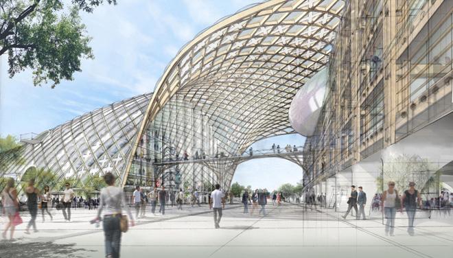 スイス時計会社本社(スイス、ビール/ビエンヌ/進行中)設計: 坂茂建築設計/Shigeru Ban Architects Europe (C)Didier Ghislain