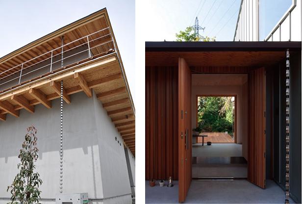 木造建築にもしっくり馴染むデザイン。エクステリアのアクセントにもなる。