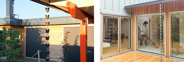 すでに設置されている鎖樋と交換できる場合もあり、DIY感覚でご自宅に取り付けることもできる。