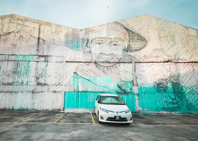 近年、ウォールアートが盛んなジョージタウン。
