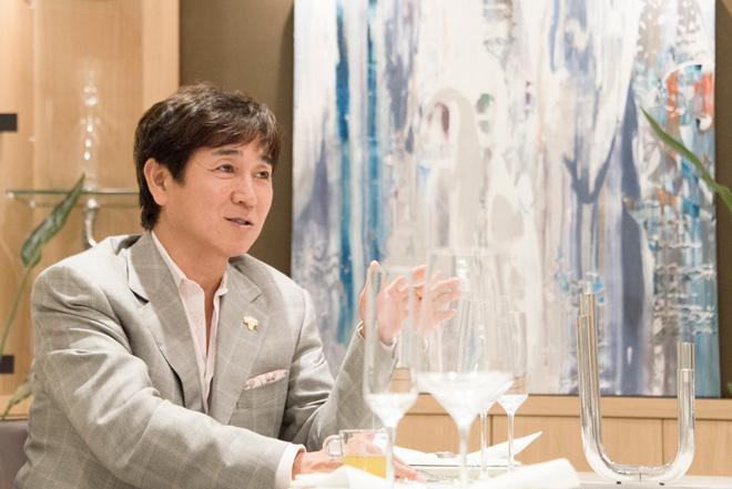「ワインでアンチエイジングの実践をしてほしい」と青木 晃氏。
