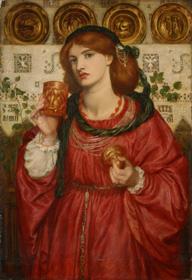 ダンテ・ゲイブリエル・ロセッティ《愛の杯》 1867年、油彩/カンヴァス、66×56cm、国立西洋美術館、旧松方コレクション