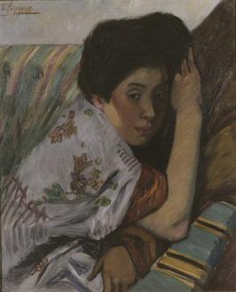 藤島武二 《うつつ》 1913(大正2)年 東京国立近代美術館蔵