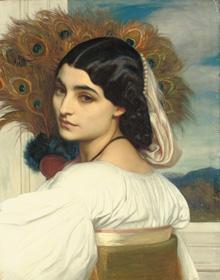 フレデリック・レイトン《パヴォニア》 1858-59年、油彩/カンヴァス、53×41.5cm、個人蔵