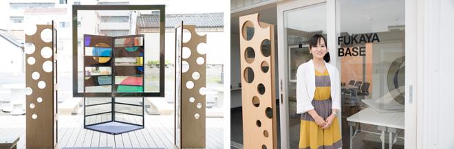 「深谷ベース」のギャラリーにて、ハヤマカオリさんの作品が企画展示された。