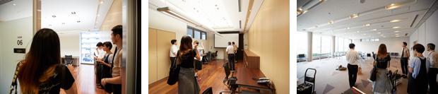 6月17日、グランドオープンに先立って行われたプレスツアー。さまざまなメディアがオフィスや共用部などを見学した。