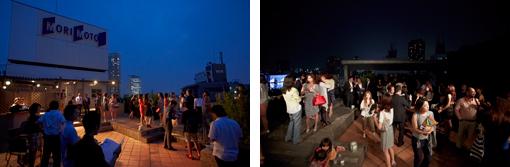 6月17日は、夕方からスカイテラスで関係者を招いてウェルカムパーティを開催。大勢の人たちが新しいレンタルオフィスの門出を祝福した。