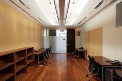 レンタルオフィスは全11室。写真は2階のROOM07で、面積は34.37㎡。一番大きい部屋になる。