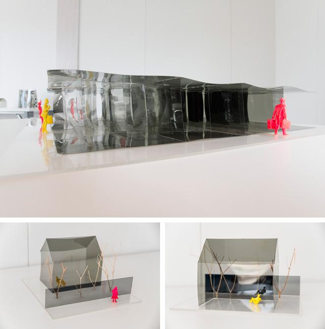 光学フィルムを使った住宅のプロジェクトもスタート。壁で部屋を区切るのではなく、光学フィルムを使いながら、空間と空間をゆるやかにつないでいく。