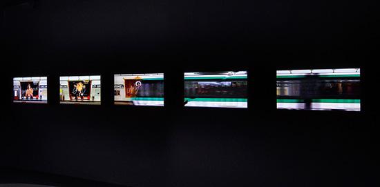 ジャン=ポール・グード「Subway installation」パリ、2011年(インスタレーションイメージ)