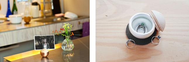 「Pictuary(ピクチュアリ)」(メモリアルボックス兼フォトフレーム) 材質:真鍮・木(タブノキ、メープル) カラー:金色、銀色、黒マット、ピンクゴールド 価格:オープンプライス(実勢価格:1 万円)