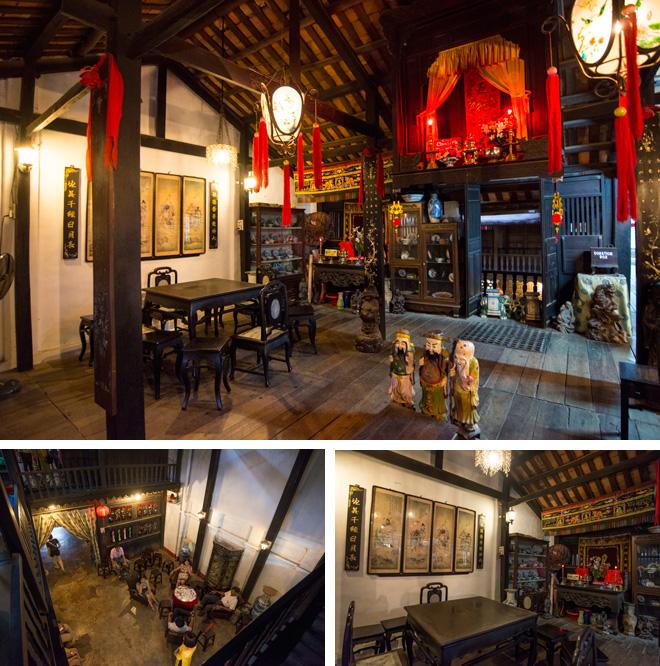 来遠橋近くにあるフンフンの家。ベトナム、中国、日本の建築様式がミックスされた木造家屋。約200年前、貿易商の家として建てられた。現在も家族が住んでいて、内部には土産物店もある。