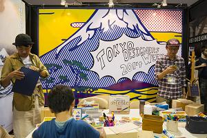 クリエイティブライフ展での「tente」のブース。
