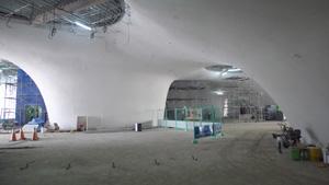 「台中メトロポリタンオペラハウス」現場。 エントランスホール(2014年5月撮影) (C)伊東豊雄設計事務所