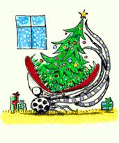 無題(ごちそうはクリスマスツリー) 1999-2001年頃  43.2 x 35.6 cm アクリル・油彩・パステル・紙