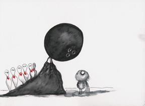 無題(『ステインボーイ』) 2000年 22.9 x 30.5 cm ペン・インク・マーカー・水彩・色鉛筆・紙